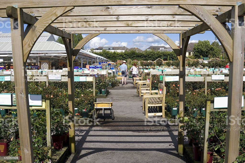 At the garden centre royalty-free stock photo