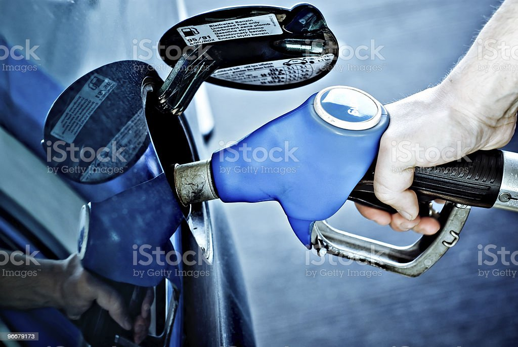 at the gas station royalty-free stock photo