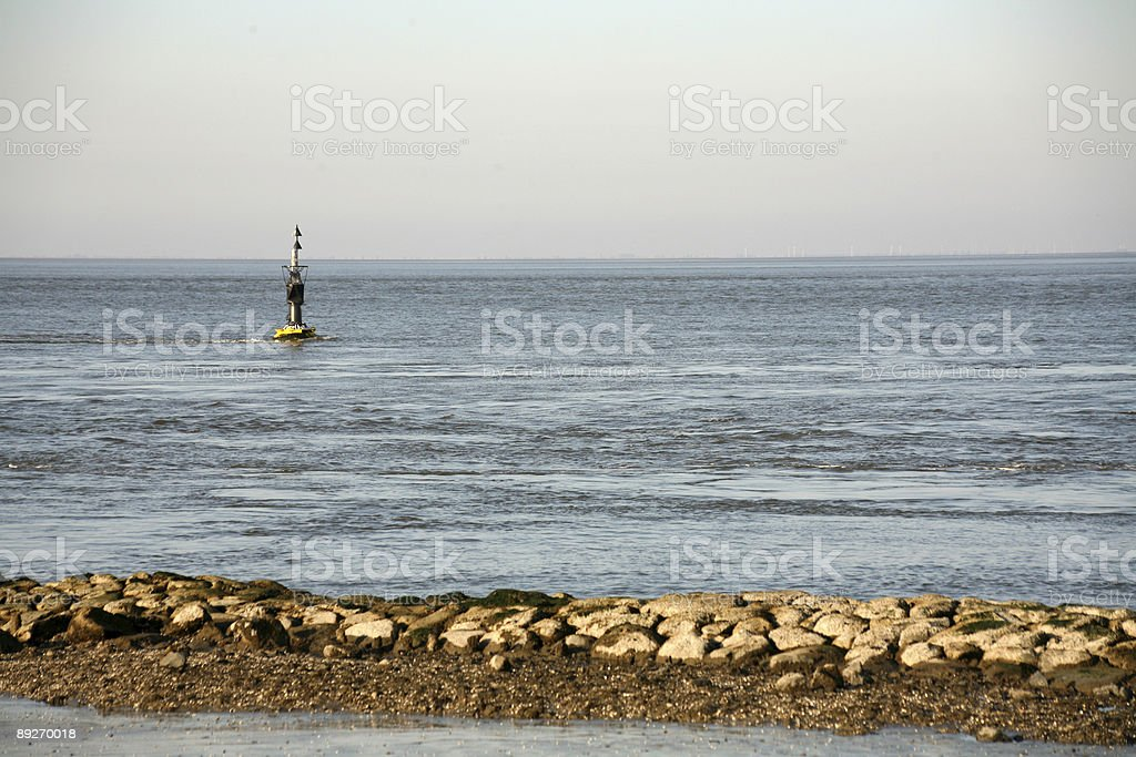 At the German North Sea coast stock photo