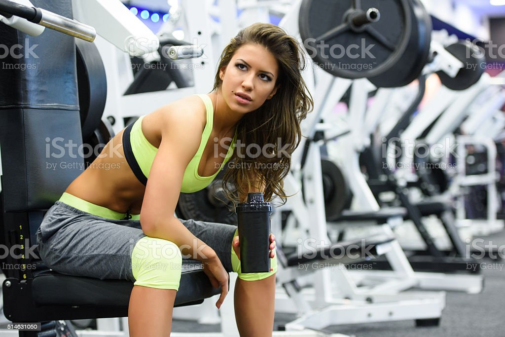 At the Gym stock photo