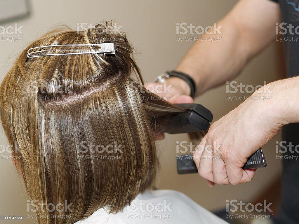 At The Hair Salon royalty-free stock photo