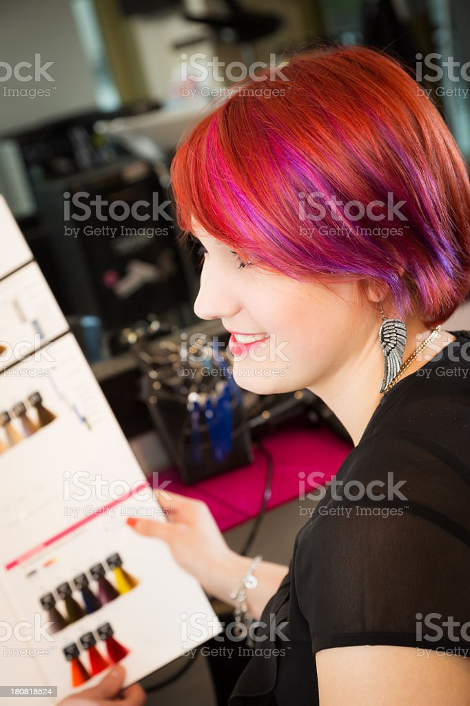 at the hairdresser's royalty-free stock photo