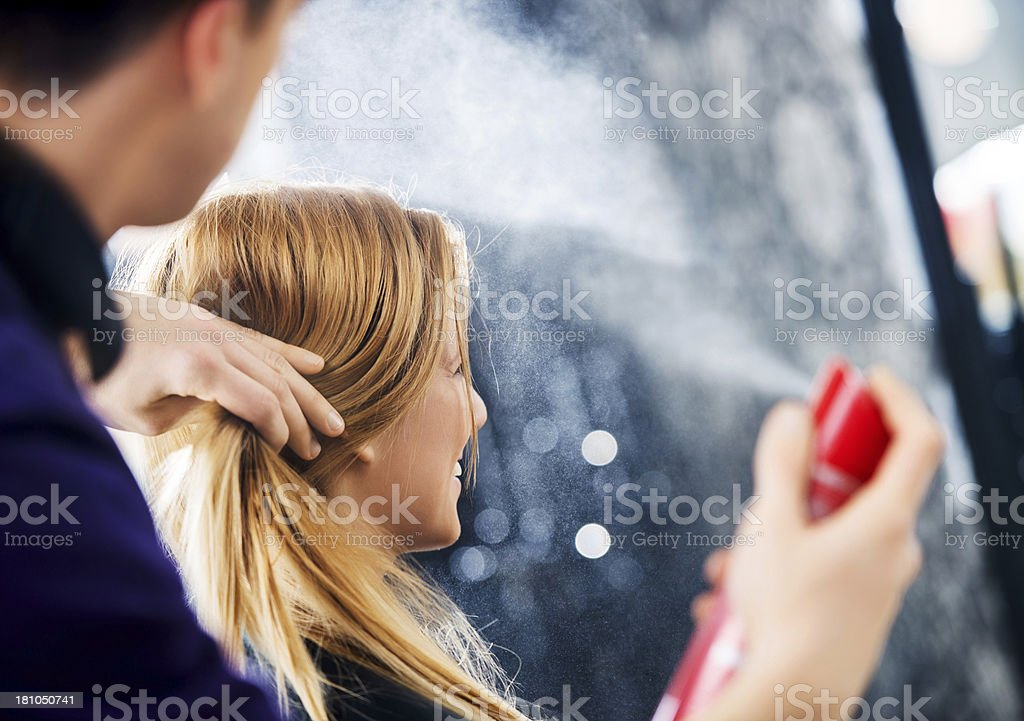 At the hairdresser's! stock photo