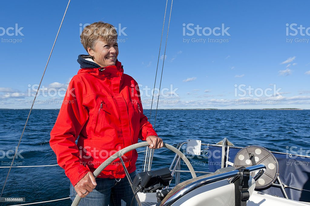 At the helm royalty-free stock photo