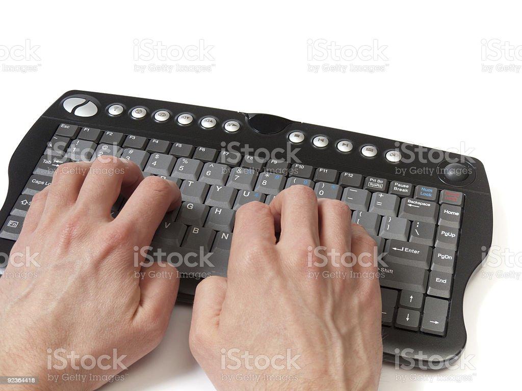 At the keyboard royalty-free stock photo