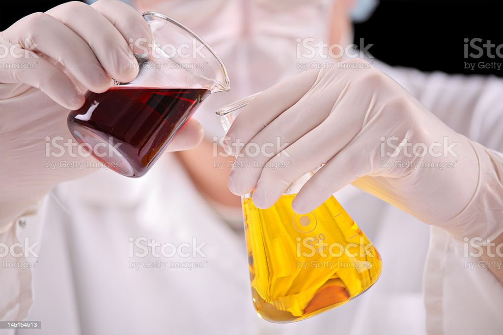At the lab royalty-free stock photo