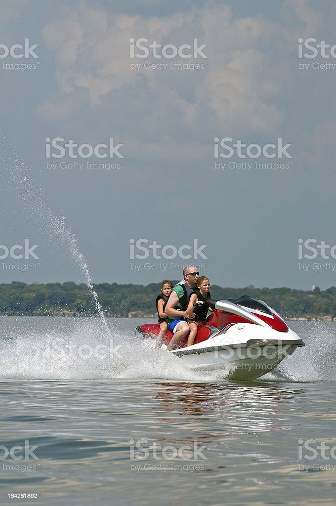 At the lake on watercraft stock photo