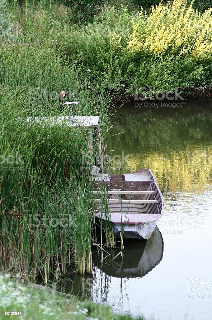 At the lakeside royalty-free stock photo