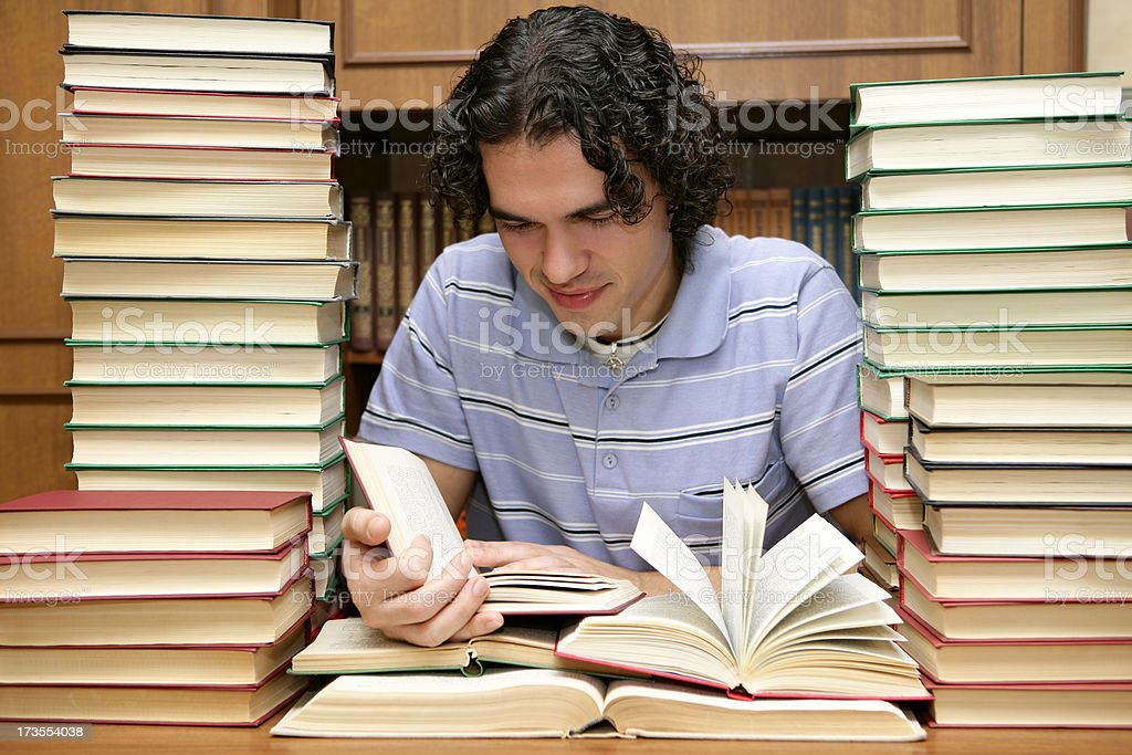 At the library royalty-free stock photo