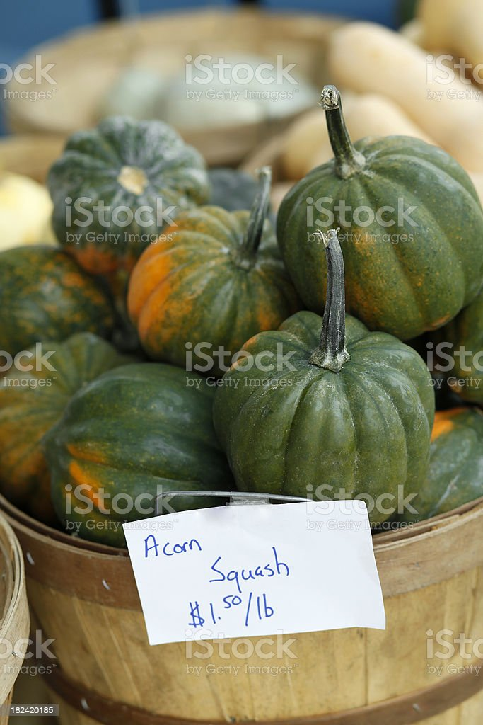 at the market: acorn squash royalty-free stock photo