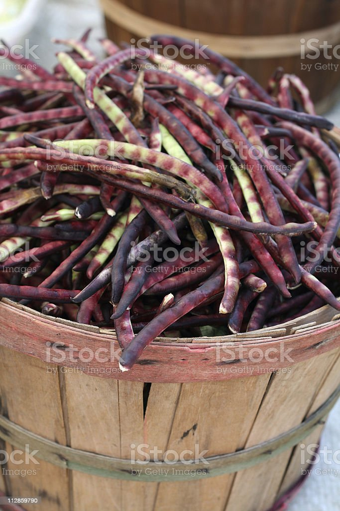 at the market: beans stock photo