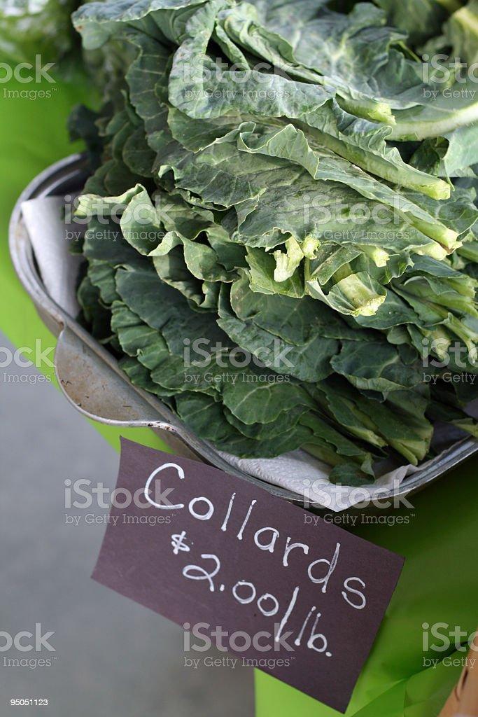 at the market: collard greens royalty-free stock photo