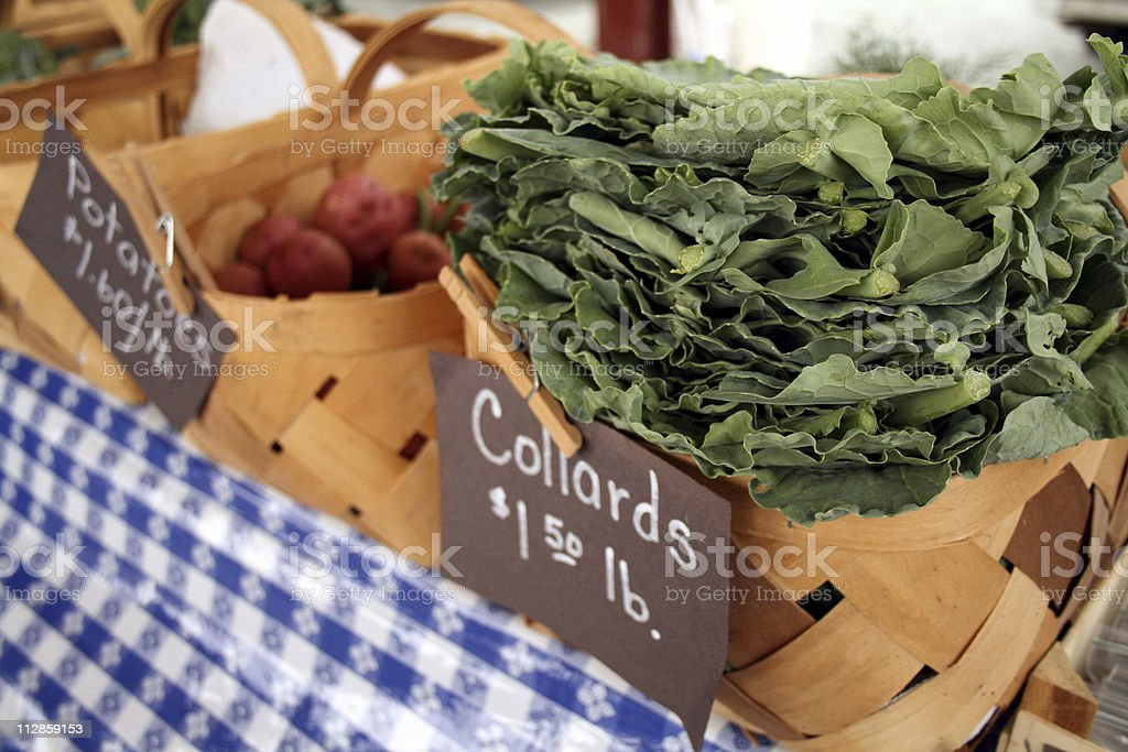 at the market: collards royalty-free stock photo