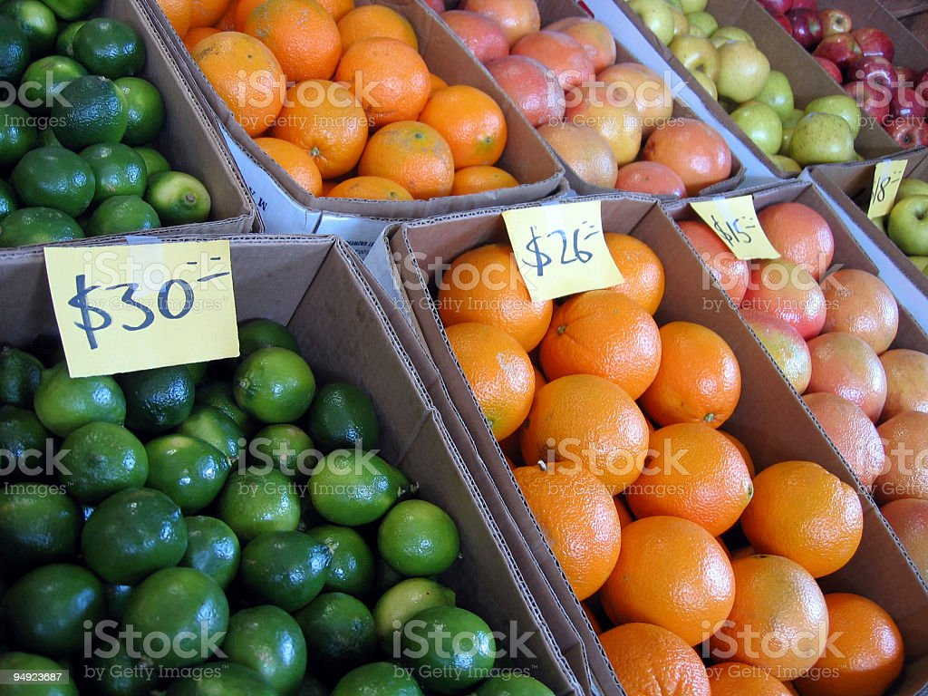 at the market: colorful citrus royalty-free stock photo