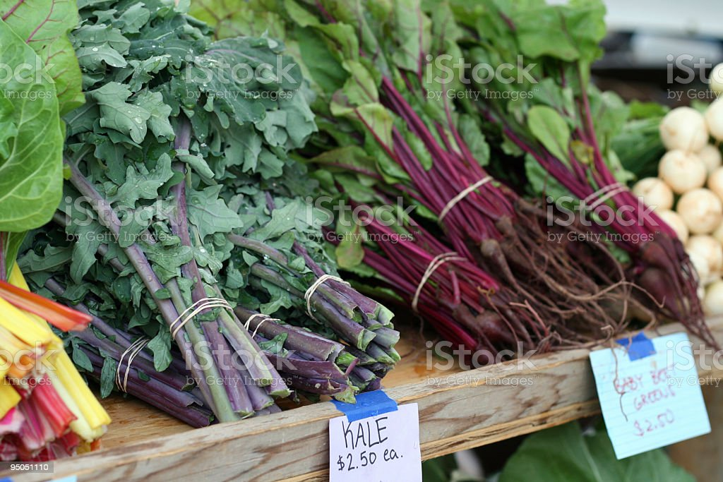 at the market: kale and beets royalty-free stock photo