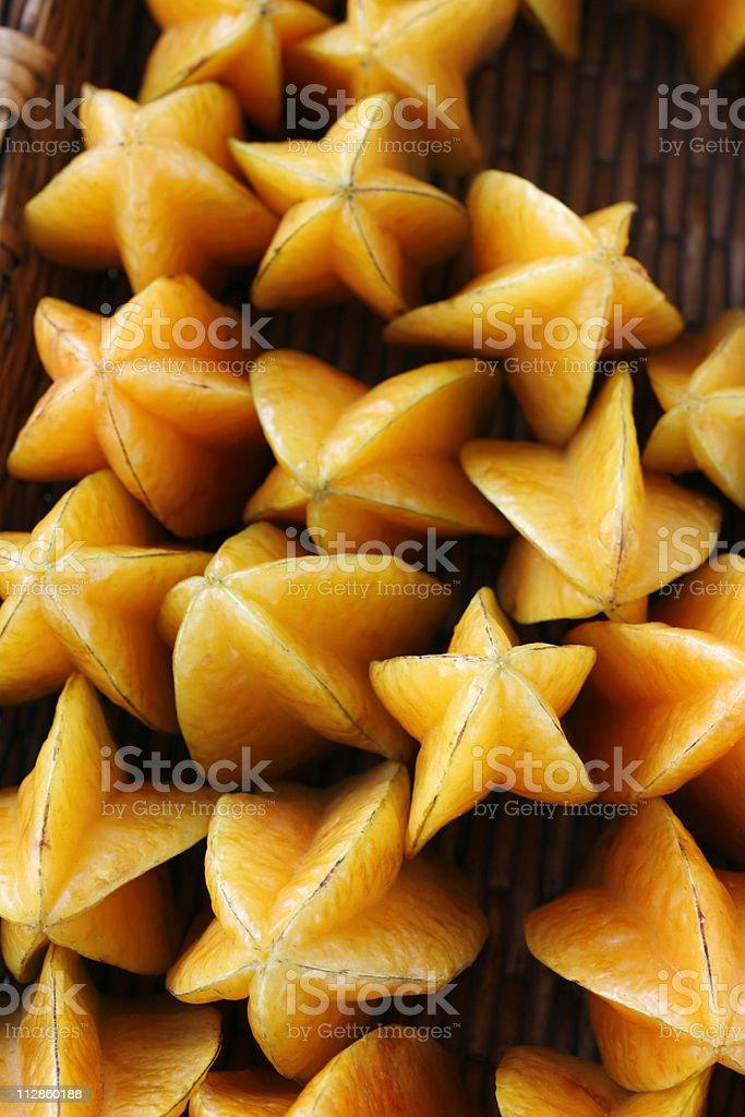at the market: starfruit royalty-free stock photo