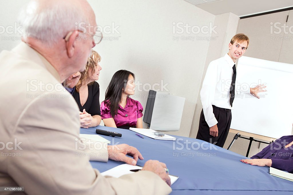 At the meeting royalty-free stock photo