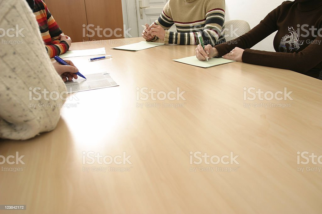 At the meeting table royalty-free stock photo