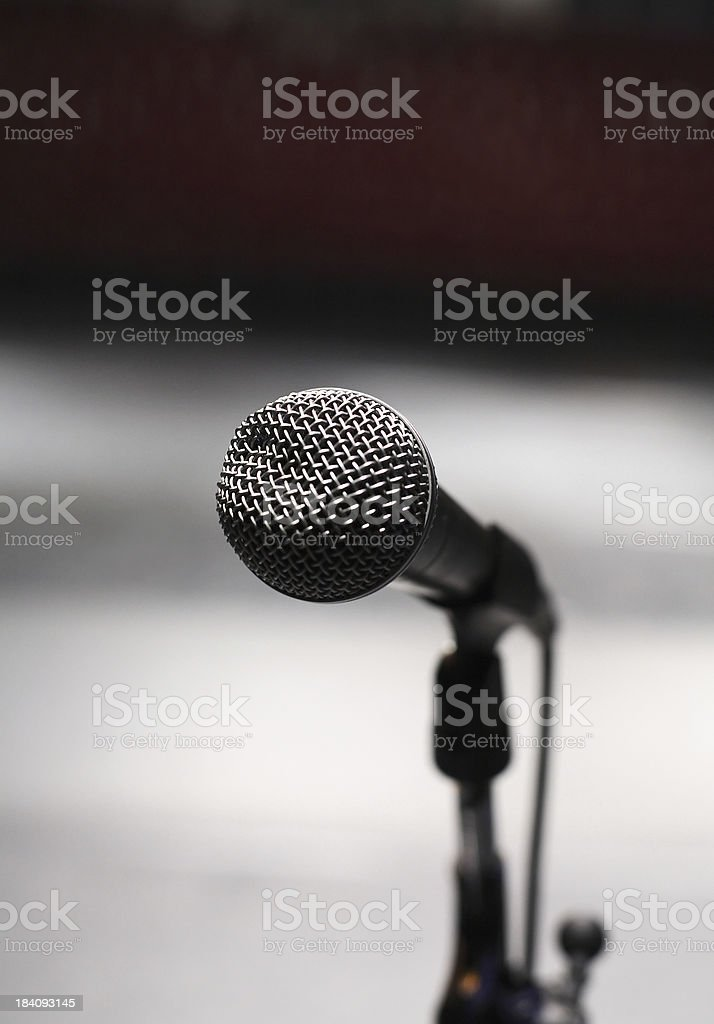 At the microphone royalty-free stock photo