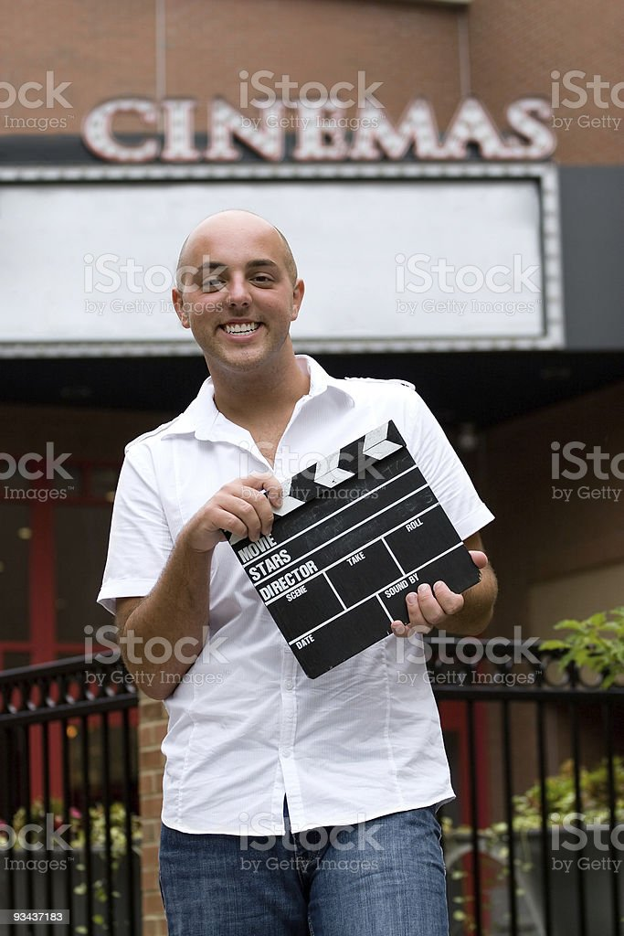 At the Movies royalty-free stock photo