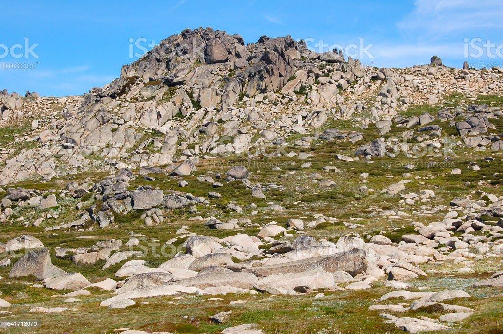 At the Mt Kosciuszko Lookout 2 - Thredbo stock photo