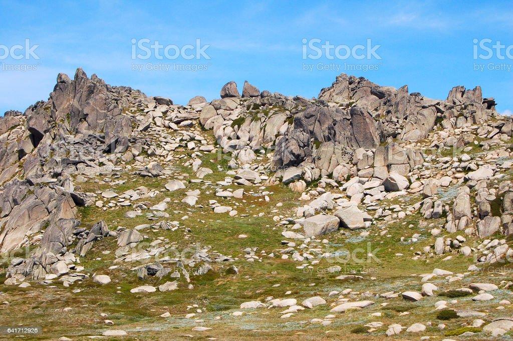 At the Mt Kosciuszko Lookout  4 - Thredbo stock photo