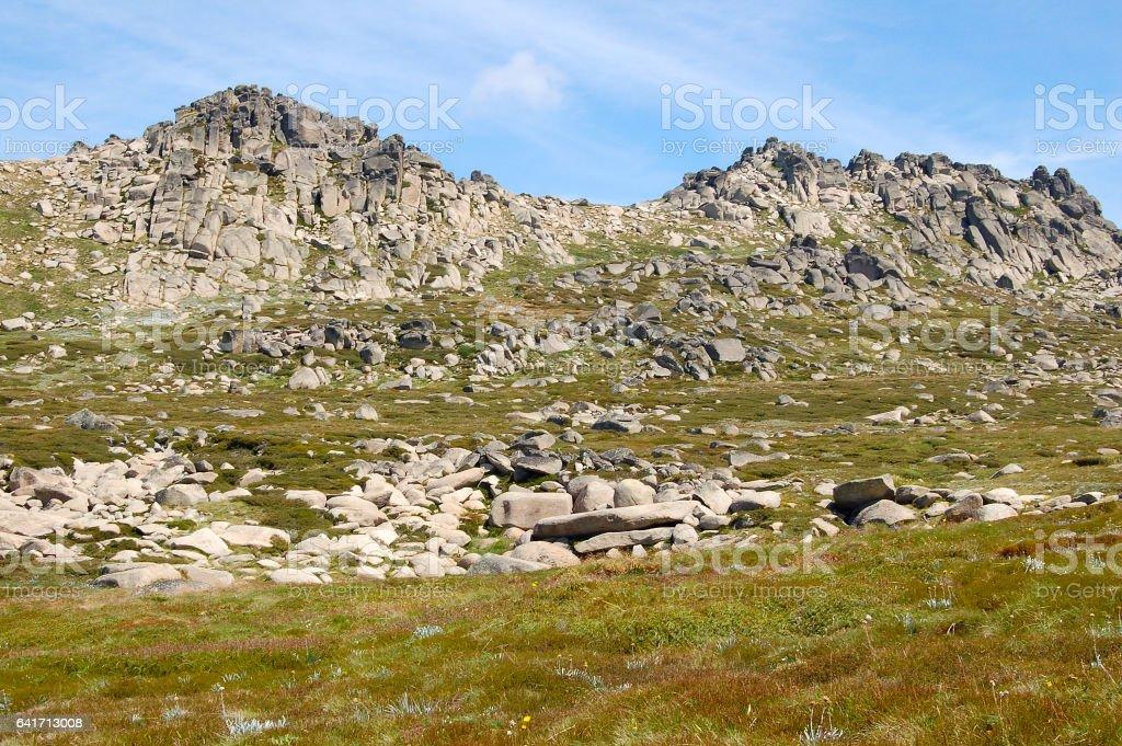At the Mt Kosciuszko Lookout - Thredbo stock photo