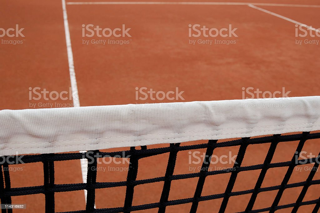 At The Net royalty-free stock photo