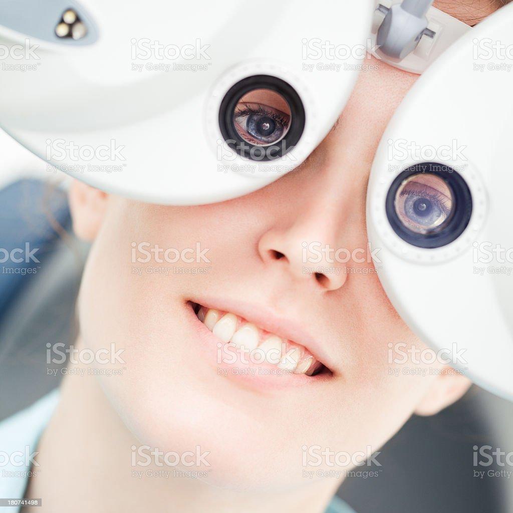 At the Optician royalty-free stock photo