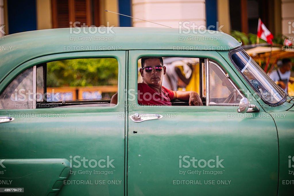 At the Paseo De Marti stop light stock photo