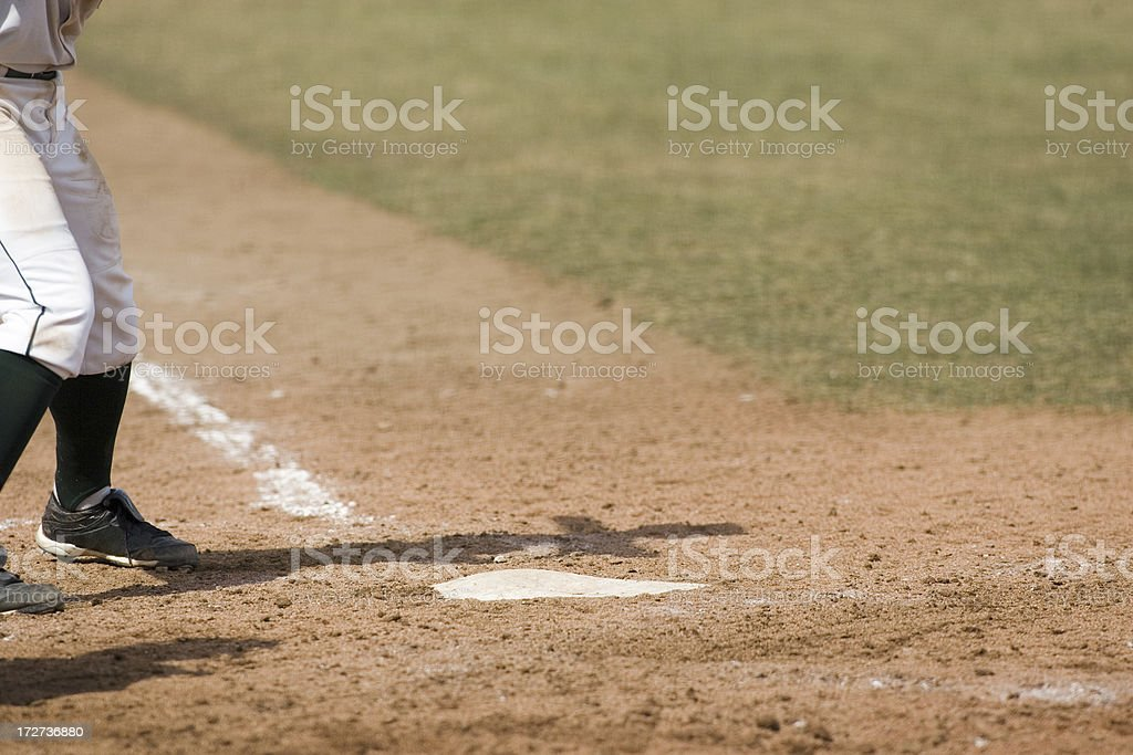 At The Plate royalty-free stock photo
