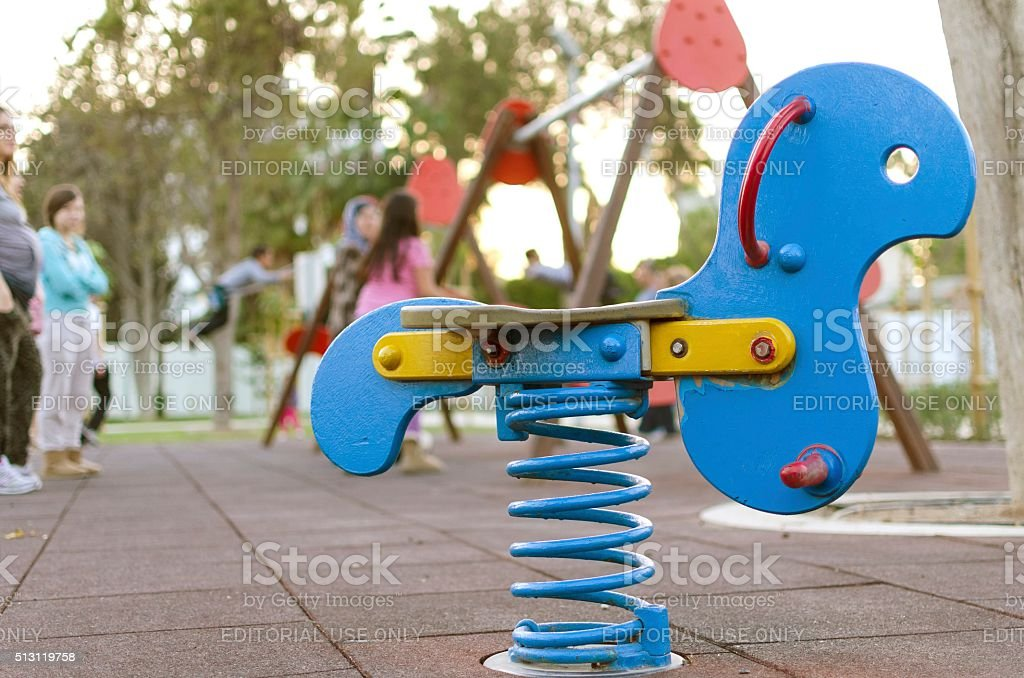 At the playground stock photo