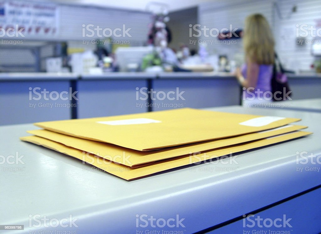 At the Post office stock photo