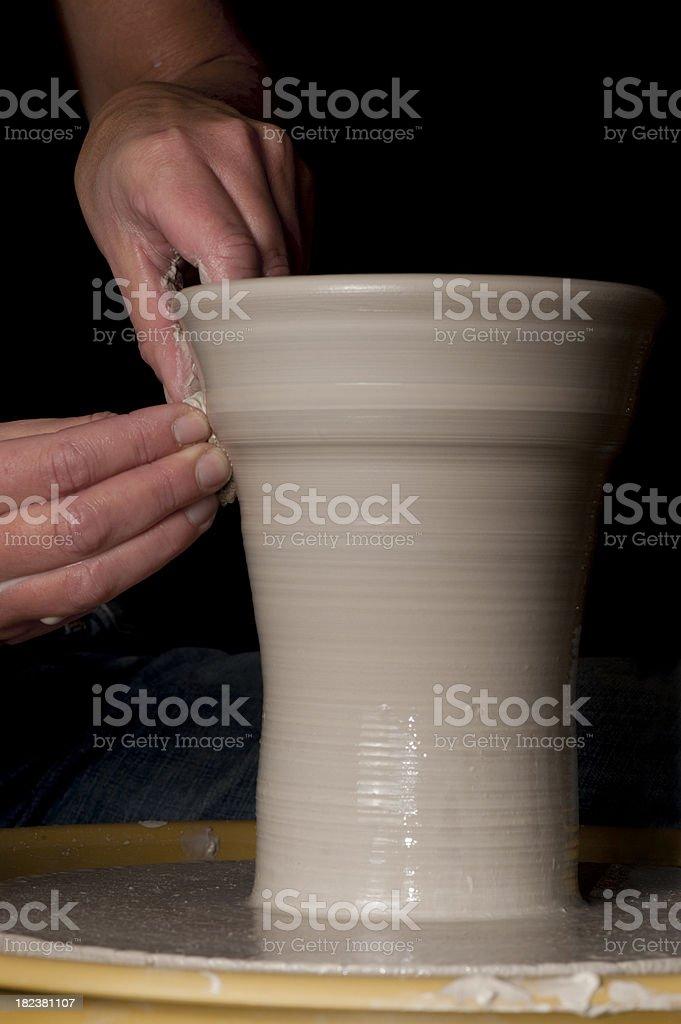 At the pottery wheel royalty-free stock photo