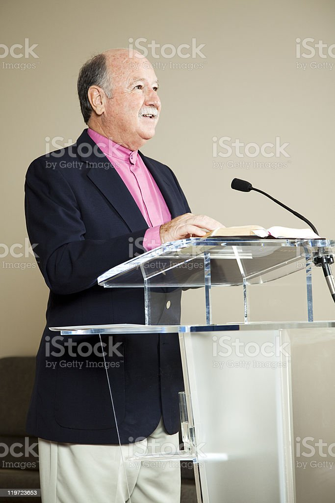 At the Pulpit royalty-free stock photo