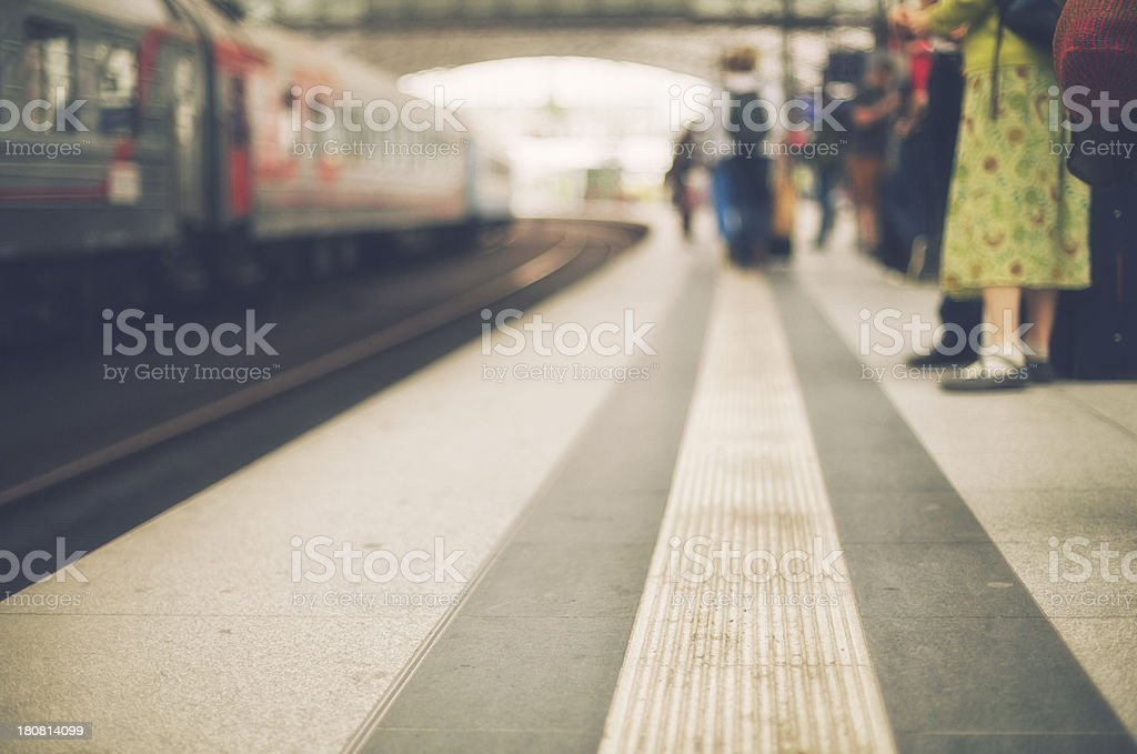 At the railway station royalty-free stock photo