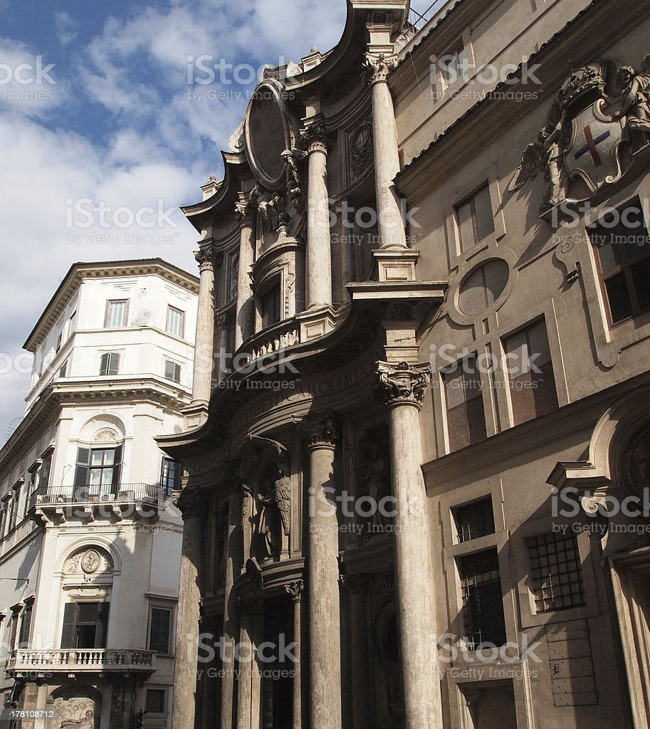 At the San Carlo alle Quattro Fontane royalty-free stock photo