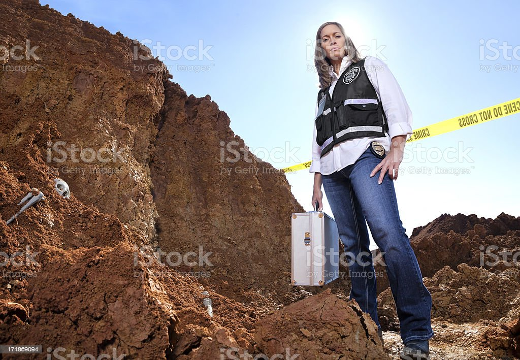 at the scene royalty-free stock photo