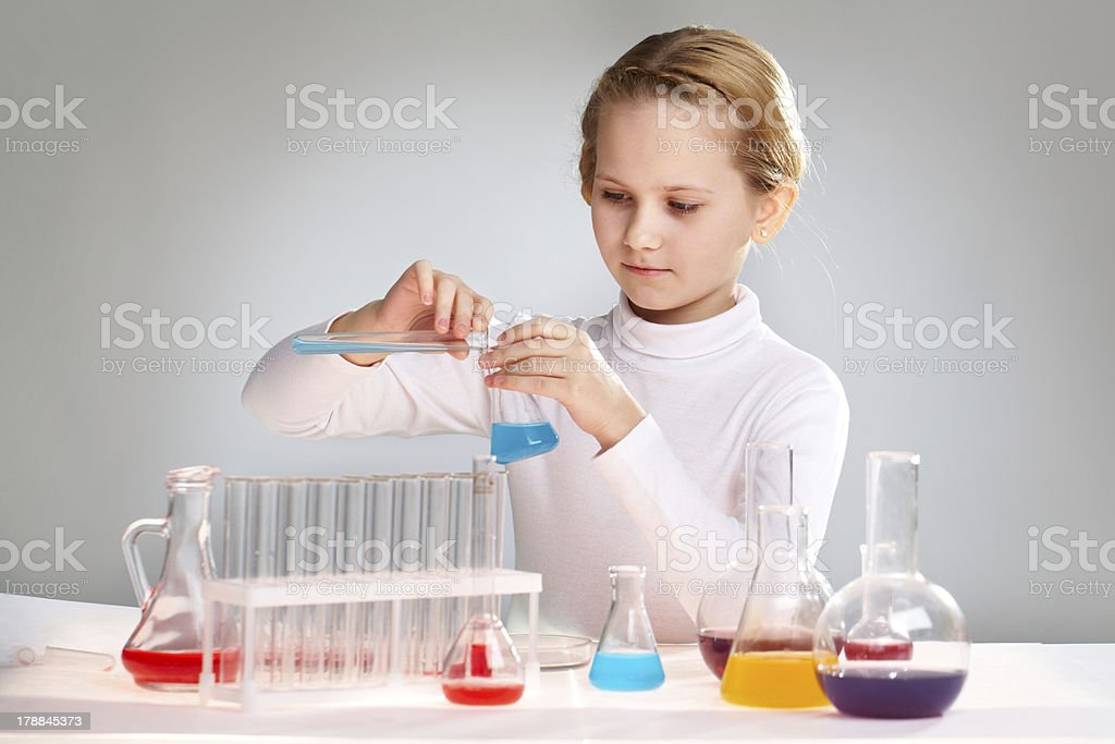 At the school lab royalty-free stock photo