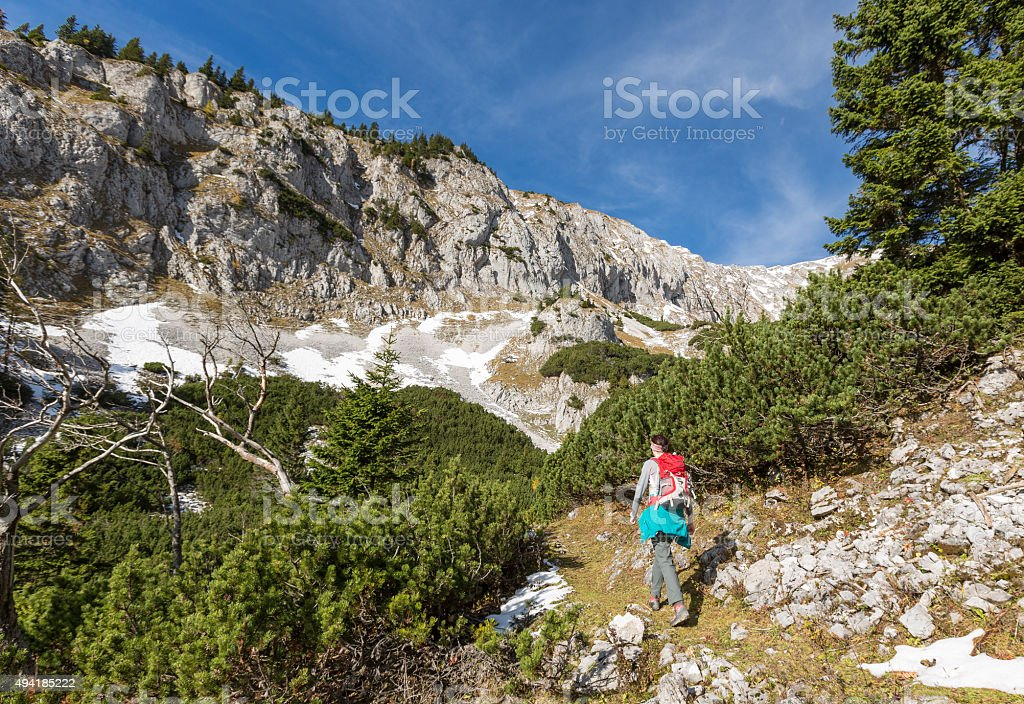 At the south slope of the Schneeberg, Lower Austria stock photo