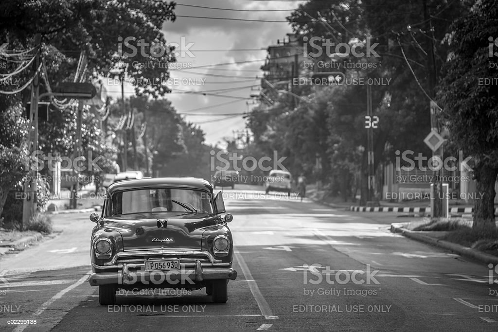 At the stop light in Havana stock photo