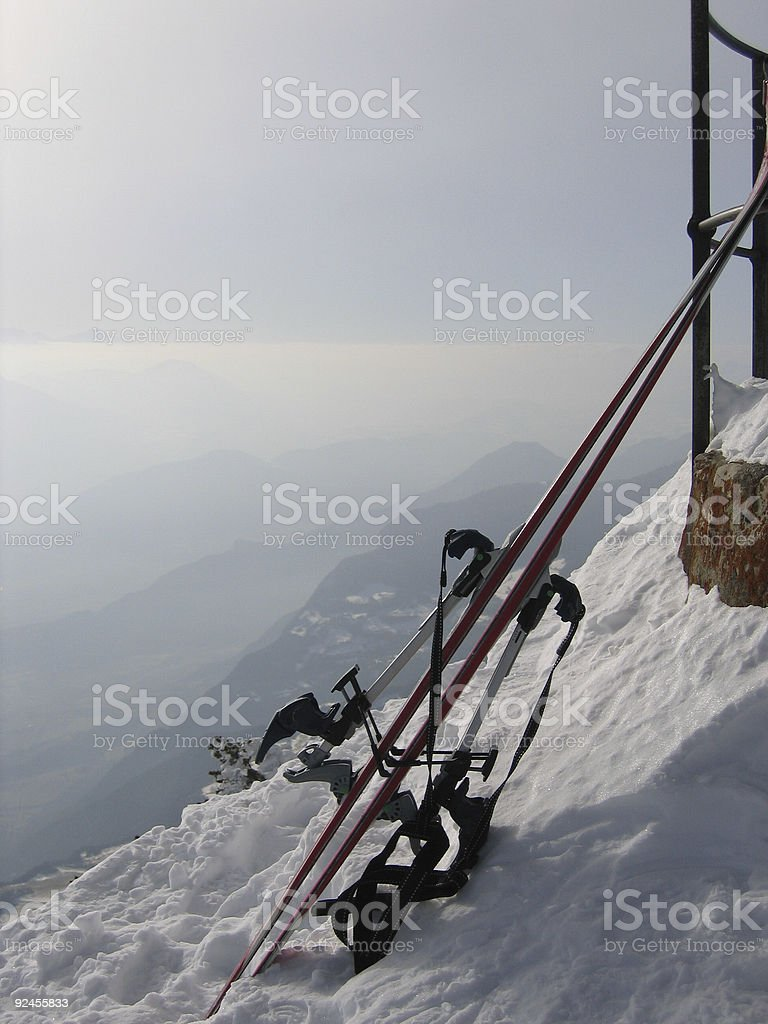 At the summit royalty-free stock photo