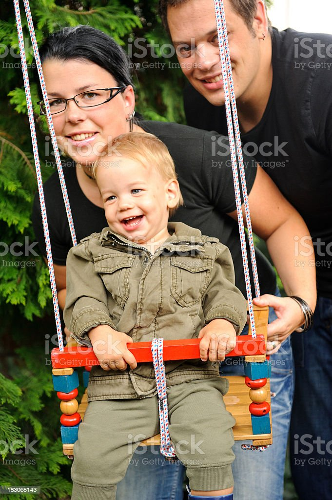 At the swing royalty-free stock photo