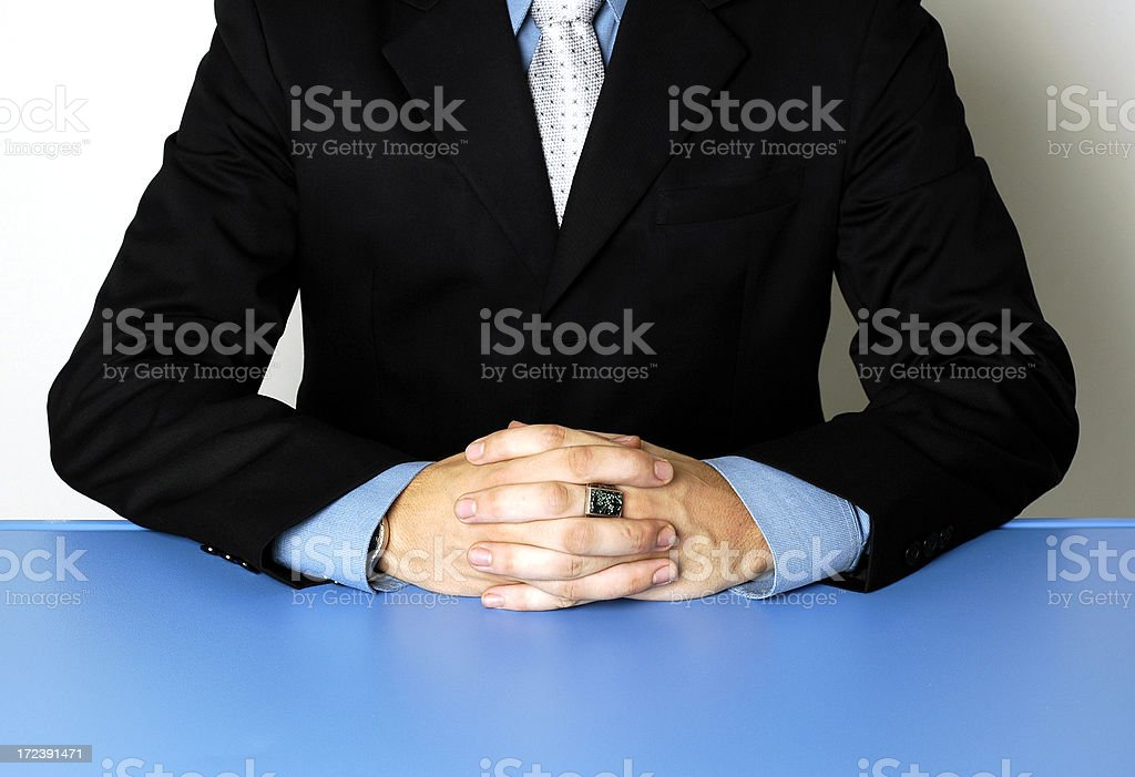 at the table royalty-free stock photo