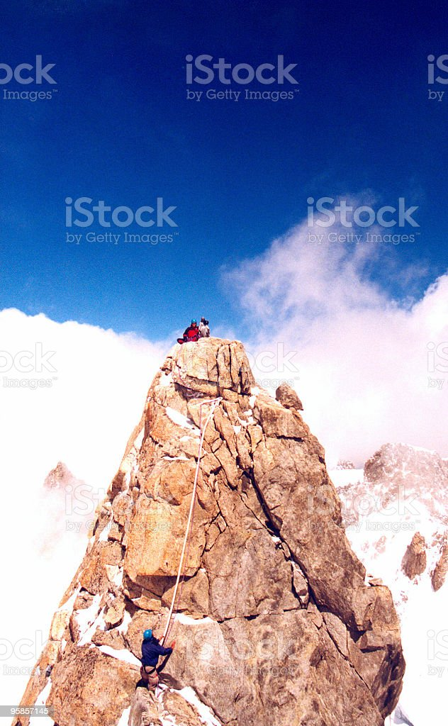 At the top - finally royalty-free stock photo