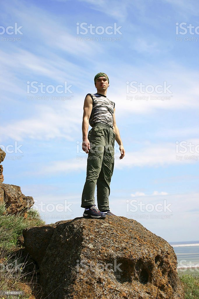 At the top of world - 5 royalty-free stock photo