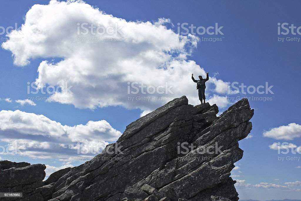 At the top of world royalty-free stock photo