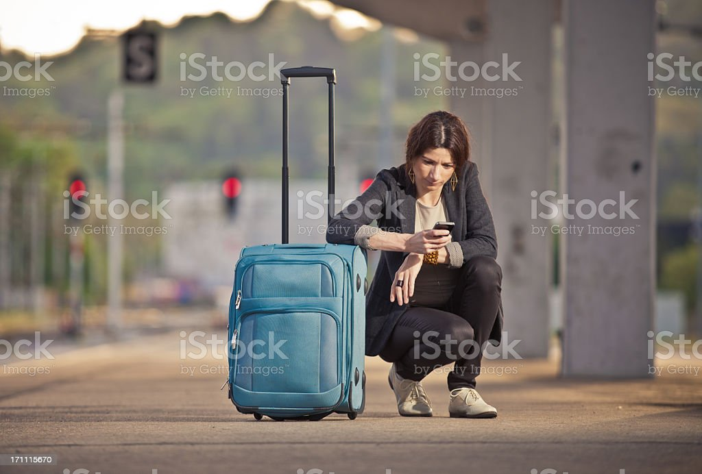 At the train station royalty-free stock photo