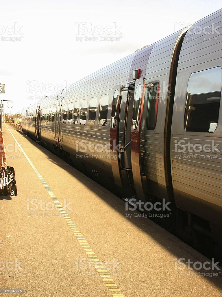 at the trainstation royalty-free stock photo
