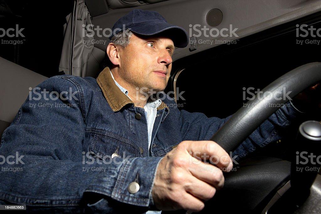 At the Wheel royalty-free stock photo